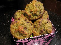 Broccoli-Banana Muffins (with Chocolate Chips)