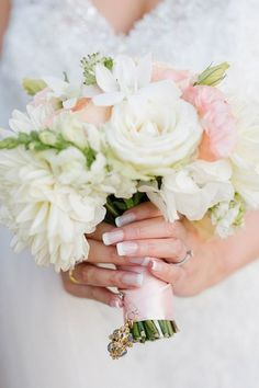 Pink & White Bouquet | Tasha Seccombe Photography on /SouthBoundBride/ via /aislesociety/