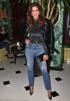 Cindy Crawford launches her denim collection at NYFW | Daily Mail Online