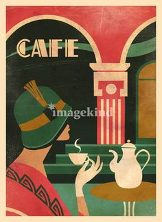 Coffee shop Art Deco Graphic Design