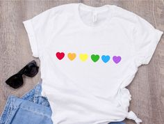 Love Wins T-shirt Gay Pride shirt Lesbian Gay T-shirt Tumblr T-shirt, Tiger T-shirt, Gay Pride Shirts, Gay Pride Outfits, Pride Merch, Tomboy Outfits, Rainbow Outfit, Rainbow Clothes, Rainbow Fashion