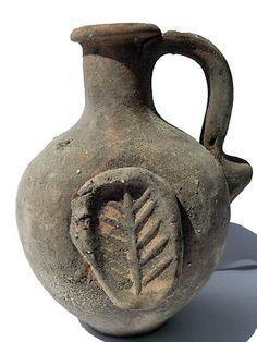 Biblical Antique Jerusalem Jar  Clay Pottery Jug