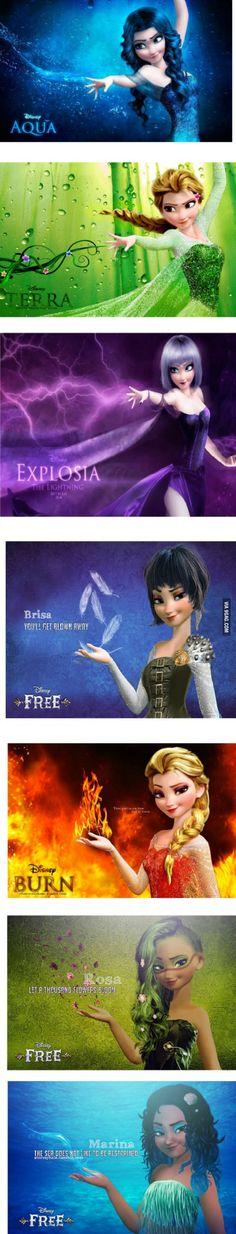 Remix d'Elsa vec d'autres pouvoirs