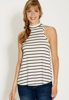 striped tank with mo