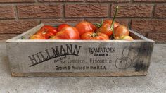 again, cute gift for a gardener. ...or to keep at home for myself - would make a cute storage container. Personalized Wooden Tomato Crate