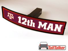 Texas A&M Aggies 12th Man Trailer Hitch Cover Illuminated NCAA Officially Licensed by tailtalker on Etsy