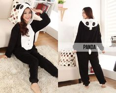 Build your own menagerie of warm and cosy onesies. Grab an adult onesie for just $49 from My Goodies. Round up the cute factor, and choose from a brown bear, tiger, panda, giraffe, racoon or cow. Panda Love, Love Bear, One Piece Pajamas, Racoon, Pretty And Cute, Animal Design, Brown Bear, Pjs, Style Ideas