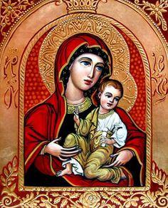 Virgin Mary and Child (in a red arch) / Botezatu Petru