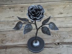 Hand forged rose on the stand Hand forged rose on the stand, #Steel #rose #Iron #flower #Metal #sculpture #Wrought #art #handmade