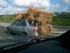 How do you get your hay if you don't have a truck?
