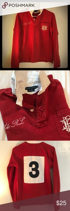 Vintage Ralph Lauren embroidered Rugby top. This top is super cute!!!  Classic 73ee27aef0795