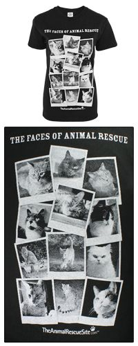 Faces of Animal Rescue T-Shirt - Cats at The Animal Rescue Site