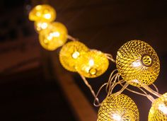 Luxury Gold Lantern String lights & lamps by StudioKaeth on Etsy