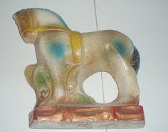 CARNIVAL CHALKWARE HORSE by ussiwojima, via Flickr
