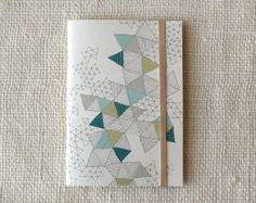 Jotter, Pocket Notebook, Mini Journal - Love Triangles. $5.75, via Etsy.