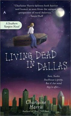 """Living Dead in Dallas is book 2 in the Sookie Stackhouse """"Southern Vampire Series"""" Otherwise known as the TRUE BLOOD books. Books To Read, My Books, True Blood Series, Vampire Series, Vampire Books, It Goes On, My Escape, Book Nooks, Book Authors"""