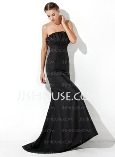 Mermaid Scalloped Neck Sweep Train Taffeta Evening Dress With Ruffle (017021133) http://jjshouse.com/Mermaid-Scalloped-Neck-Sweep-Train-Taffeta-Evening-Dress-With-Ruffle-017021133-g21133