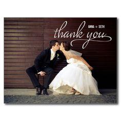 HANDWRITTEN Thank You Postcard - White Post Cards
