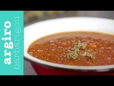 Φακές σούπα κόκκινες από την Αργυρώ Μπαρμπαρίγου | Κοκκινιστές φακές, ένα παραδοσιακό και θρεπτικό φαγητό που έχουμε συνδέσει με τα παιδικά μας χρόνια! Food Categories, Cooking Videos, Greek Recipes, Lunches And Dinners, Food Dishes, Family Meals, Meal Planning, Dessert Recipes, Food And Drink