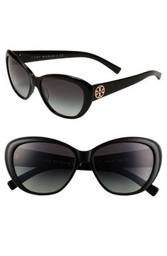 Tory Burch Cat's Eye Sunglasses available at #Nordstrom Channeling a bit of Grace Kelly? Audrey Hepburn?