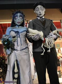Daleon: These are both handmade costumes inspired by the characters from the movie Corpse Bride, directed by Tim Burton. For those who are interested, I have explained the process how they...