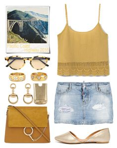 """""""Take a Drive~(Pacific Coast Highway)"""" by soso-alliso ❤ liked on Polyvore featuring Dsquared2, Qupid, Chloé, Cathy Waterman, RetroSuperFuture, Polaroid, Gucci, Emilio Pucci, MANGO and country"""