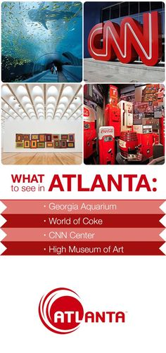Discover the amazing things to do in Atlanta! Georgia Girls, Georgia Usa, Georgia On My Mind, Atlanta Georgia, Visit Atlanta, Atlanta Travel, Vacation Places, Vacation Trips, Vacations