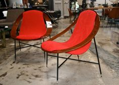 Rare Ico Parisi Lounge Chairs | From a unique collection of antique and modern lounge chairs at https://www.1stdibs.com/furniture/seating/lounge-chairs/