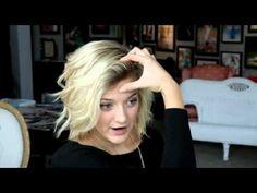 How to Curl Short/Medium Hair Tutorial - YouTube