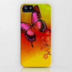 le papillon Japonais  iPhone & iPod Case by ganech - $35.00