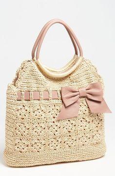 Bolsas de Crochet Rafia Valentino - Valentino Crocheted Raffia Bag | Josy Queiroz