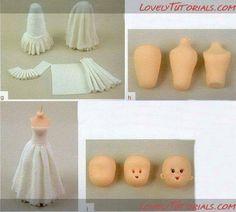Diy wedding cake tutorial ideas 62 New ideas Cake Topper Tutorial, Fondant Tutorial, Doll Tutorial, Diy Wedding Cake, Wedding Cake Toppers, Fondant Toppers, Fondant Cakes, Fondant People, Fondant Decorations