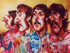"""Beatles """"Sgt. Pepper""""...FOLLOW THIS BOARD FOR GREAT CARICATURES OF PEOPLE WE KNOW..I'LL BE ADDING DAILY..."""