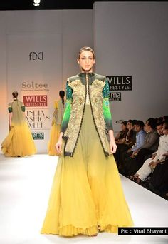 On the Catwalk at Wills Lifestyle India Fashion Week
