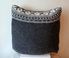 Cushion / Pillow Case   Wool by DavidsLittlethings on Etsy