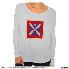 The Sassanid Persian Empire Flag T Shirts