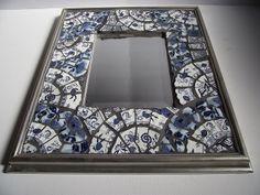 Blue Mosaic Mirror by vintagebutterfly94, via Flickr - SOLD
