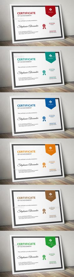 Banner Corporate Certificate Template AI Illustrator