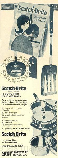 """1965 Scotcch-brite, """"yo no puedo estar sin él"""""""