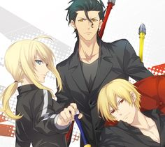Lancer, Saber and Gilgamesh