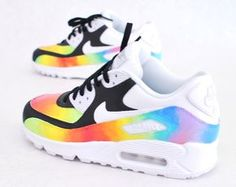 the latest 032b0 fc6c1 Custom Hand-Painted Color Blast Nike Air Max 90 Running Shoe