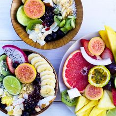 Fruit bowls. Pinterest // @smilesandhe4050_ //