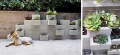 DIY mur de plantes en parpaing à faire soi-même