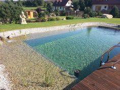 Koupací jezírko | Stavba jezírek Natural Swimming Pools, Natural Pools, House Design Photos, Dream Pools, Landscape, Garden Ideas, Garden Ponds, Outdoor Decor, Nature