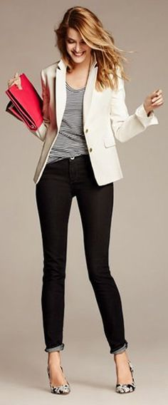 stylish business casual best outfits - Find more ideas at business-casualforwomen.com