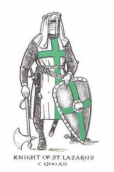 Knight of St. The Knights of Saint Lazarus were involved in… Medieval World, Medieval Knight, Medieval Times, Knights Hospitaller, Knights Templar, Saint Lazarus, Crusader Knight, Christian Warrior, Armadura Medieval