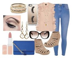 """""""#1160 Nude Collection"""" by arasshjit ❤ liked on Polyvore featuring River Island, Giambattista Valli, Madden Girl, MICHAEL Michael Kors, Gucci, Casetify, Ippolita, Kendra Scott, Rimmel and Mehron"""