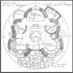 My Little Hippie House 3 on large yurt design plan