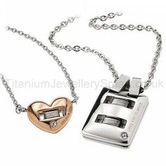 """Love You So Much"" Titanium Lovers Pendants"