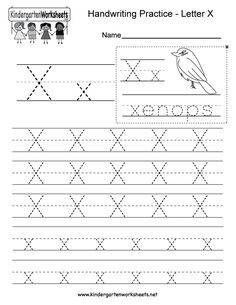 "This is a letter X tracing worksheet. Children can trace uppercase and lowercase letters and the word ""xenops."" You can download, print, or use it online. Alphabet Writing Worksheets, English Worksheets For Kindergarten, Handwriting Practice Worksheets, Printable Preschool Worksheets, Tracing Worksheets, Kindergarten Writing, Free Printable, Alphabet Tracing, Alphabet Activities"